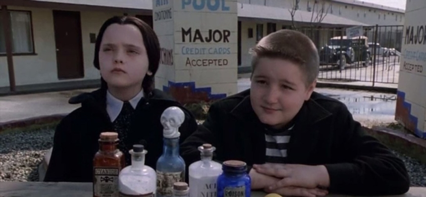 Wednesday Addams and Pugsley Addams in The Addams Family